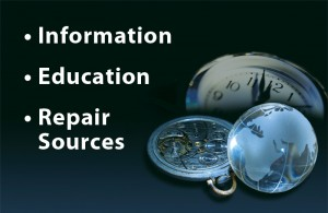 Watch Clock Information, Education, Repair Sources