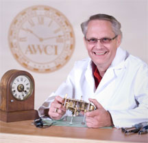 Why is it important to look for AWCI members when choosing a clock maker?