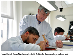 Laurent Junod, Master Watchmaker for Patek Phillips for three decades, runs the school.