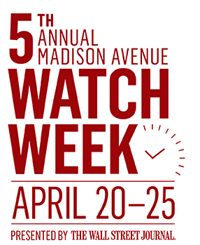 5th Annual Madison Avenue Watch Week April 20-25