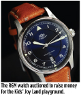 The RGM watch auctioned to raise money for the Kids' Joy Land playground.