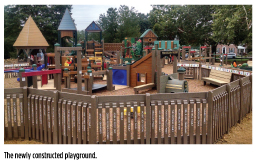 The newly constructed playground.