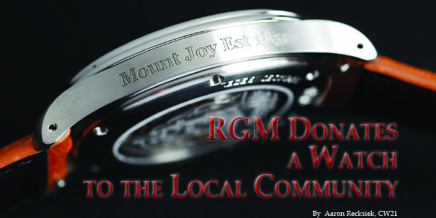 RGM Donates A Watch to the Local Community