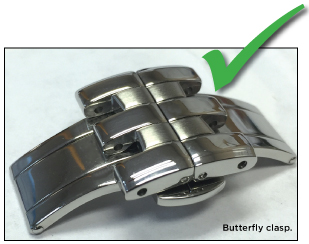 Butterfly clasp.