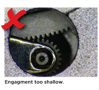 Engagment too shallow.