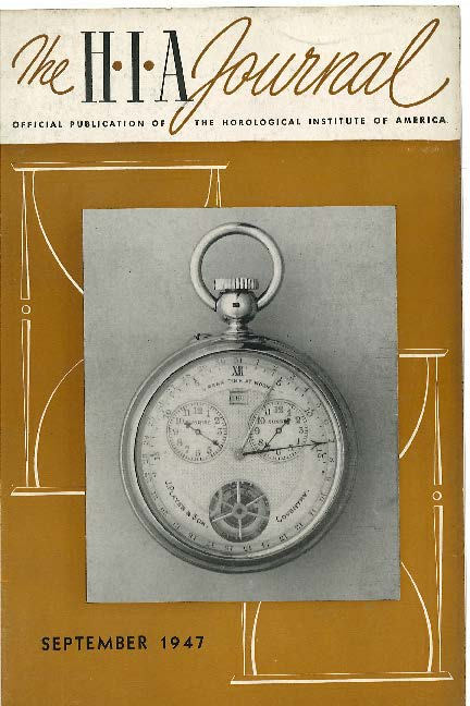 September 1947 HIA Journal