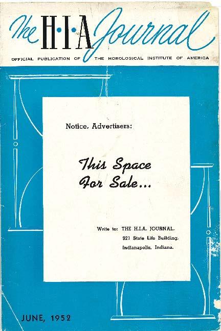 June 1952 HIA Journal