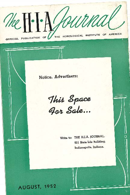August 1952 HIA Journal