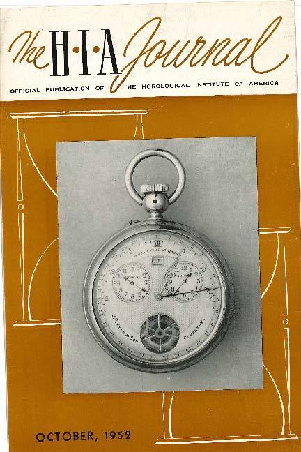 October 1952 HIA Journal