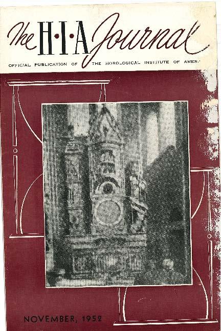 November 1952 HIA Journal