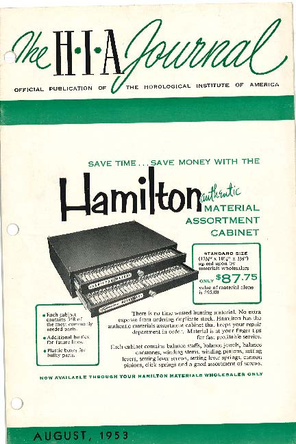 August 1953 HIA Journal