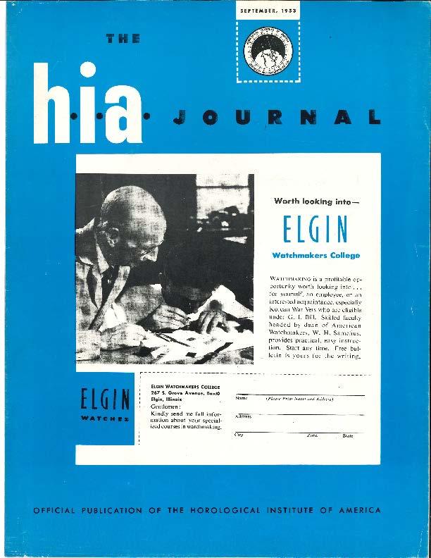 September 1953 HIA Journal