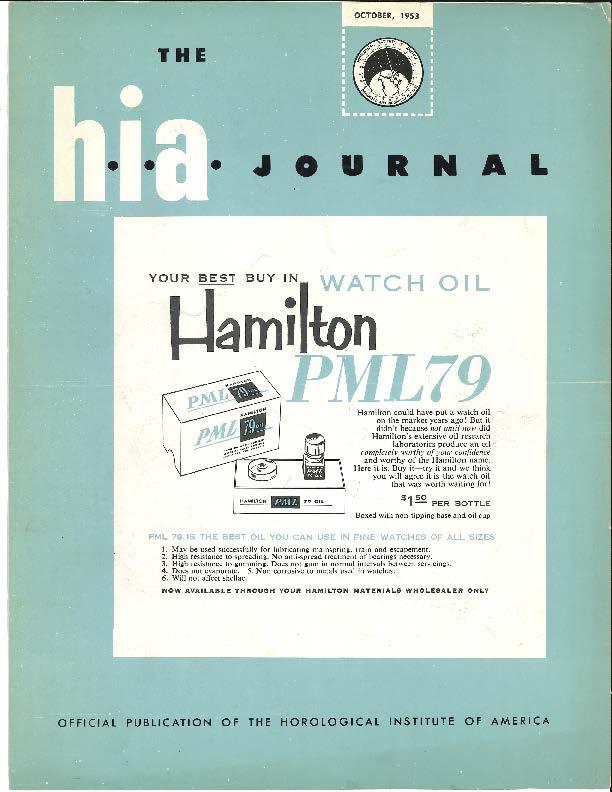 October 1953 HIA Journal