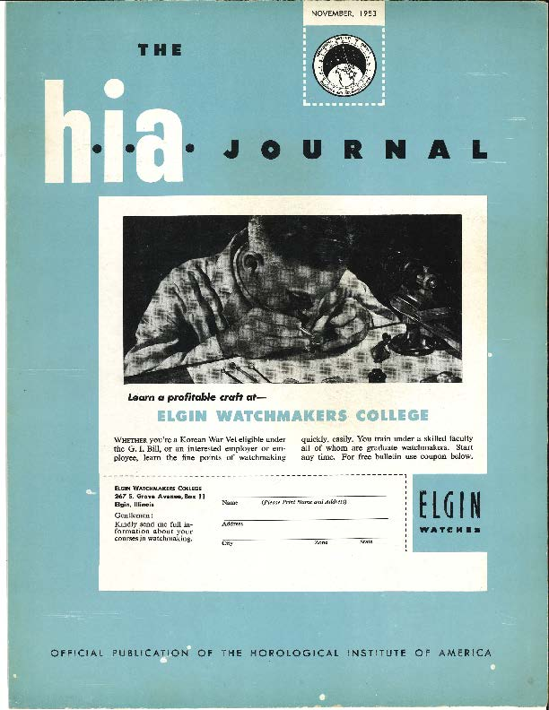 November 1953 HIA Journal