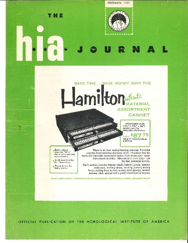 December 1953 HIA Journal