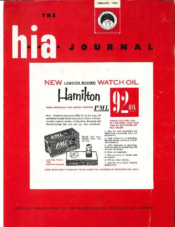 February 1954 HIA Journal