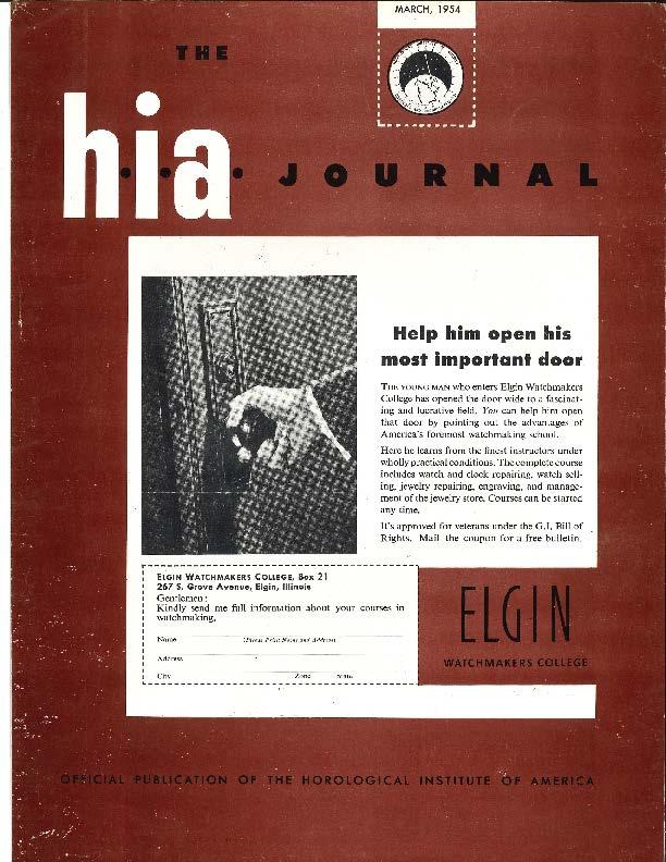 March 1954 HIA Journal