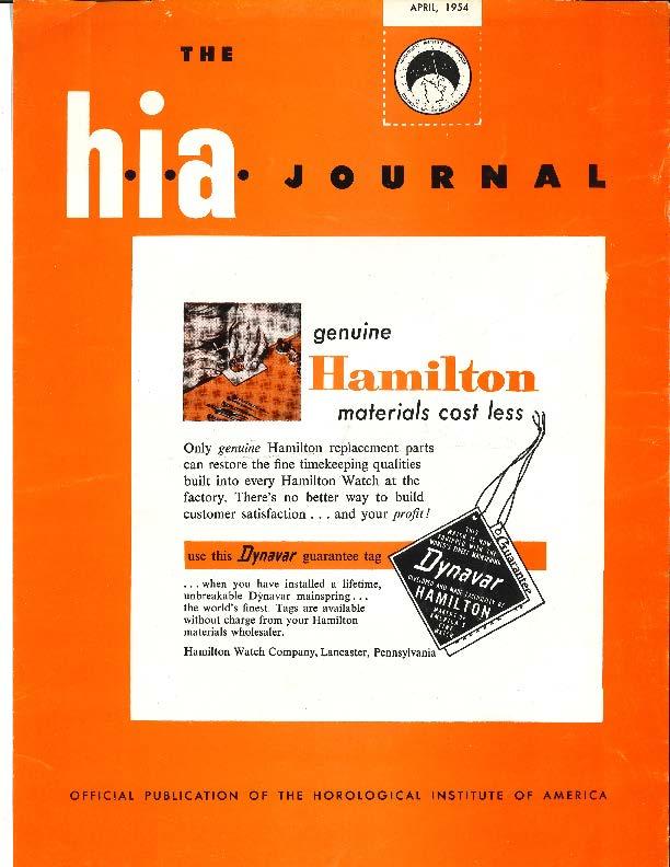 April 1954 HIA Journal