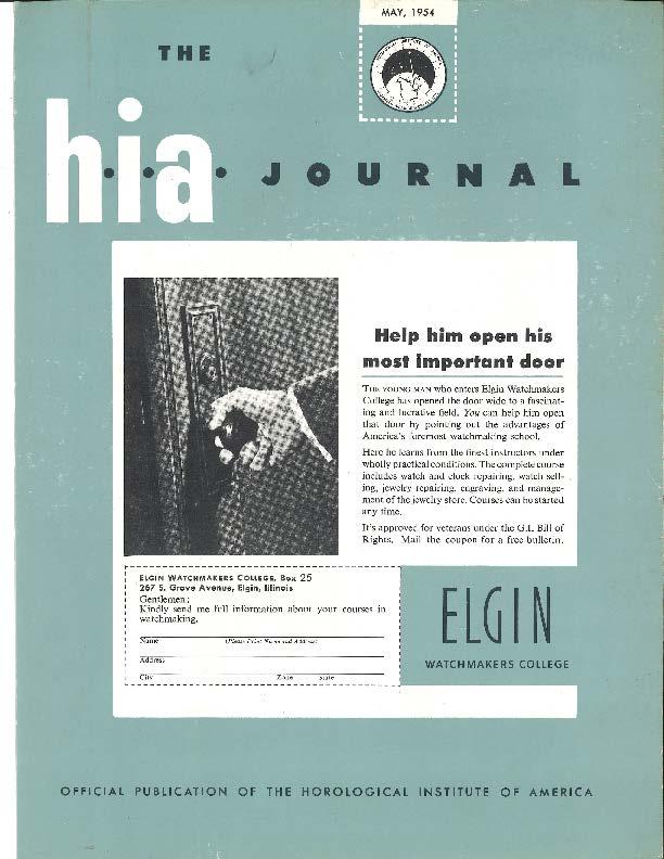 May 1954 HIA Journal