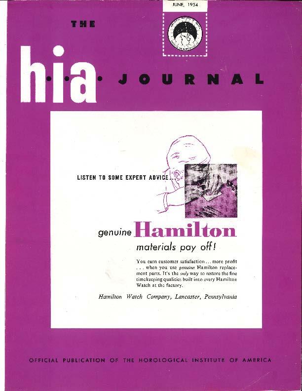 June 1954 HIA Journal