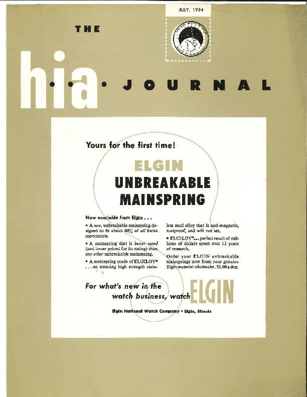 July 1954 HIA Journal