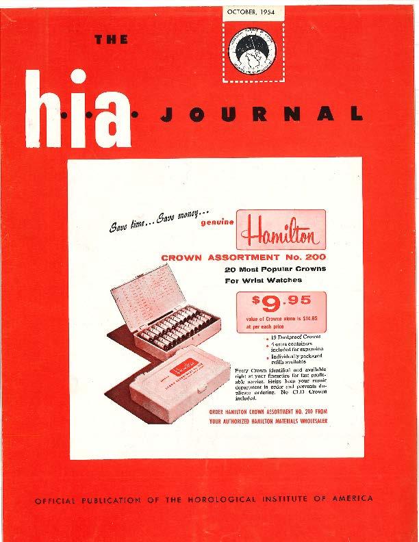 October 1954 HIA Journal