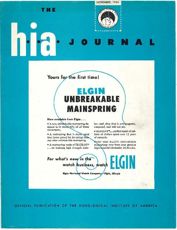 November 1954 HIA Journal