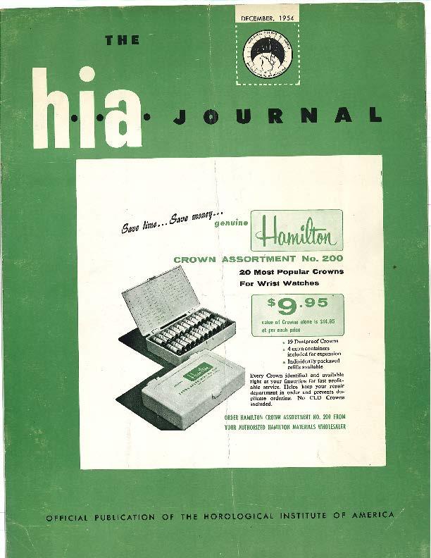 December 1954 HIA Journal