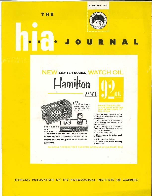 February 1956 HIA Journal