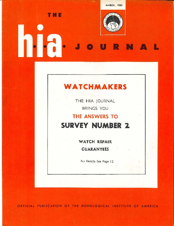March 1956 HIA Journal