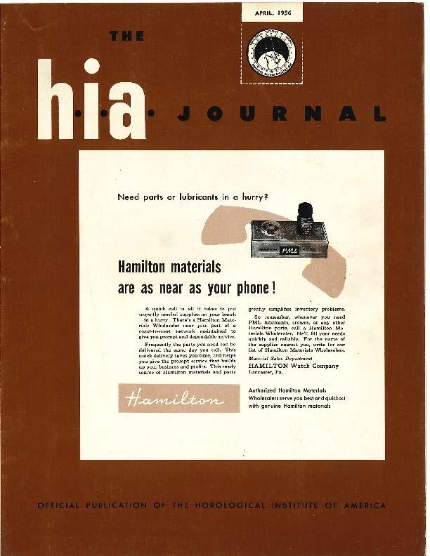 April 1956 HIA Journal