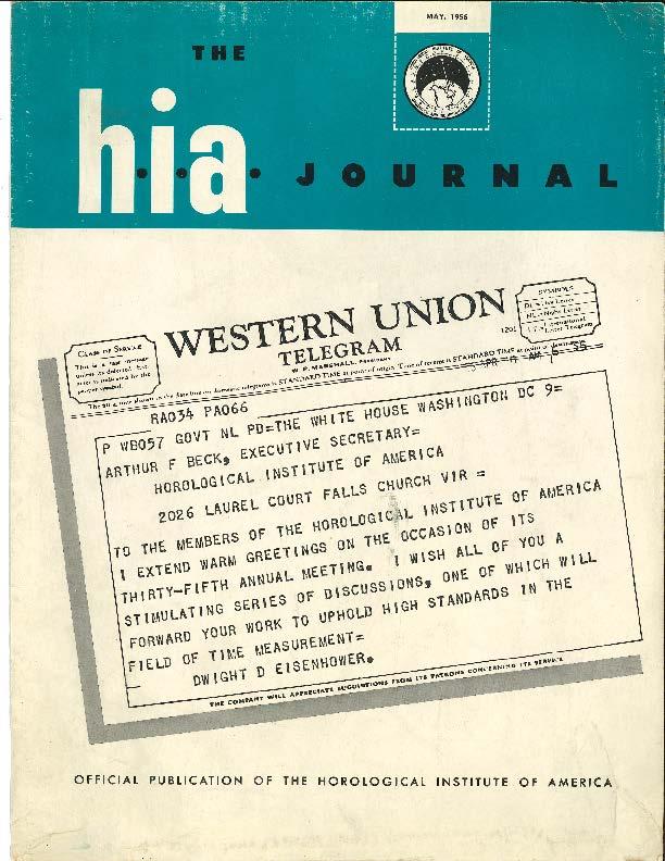 May 1956 HIA Journal