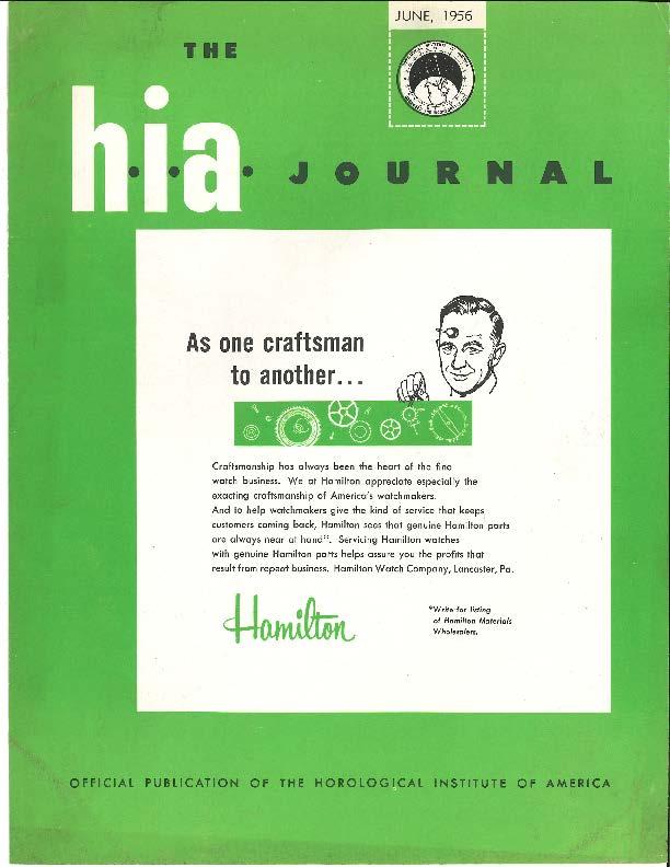 June 1956 HIA Journal