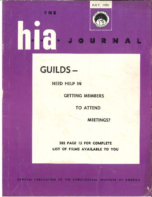 July 1956 HIA Journal
