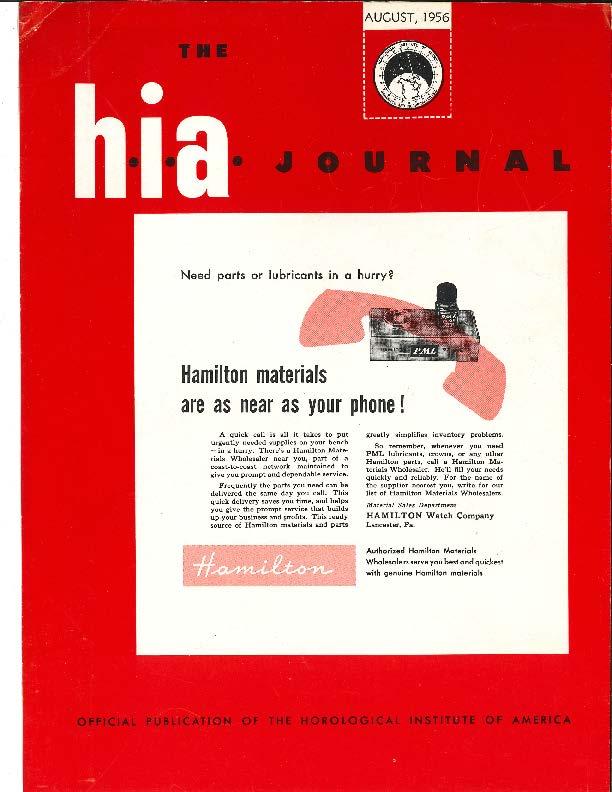 August 1956 HIA Journal