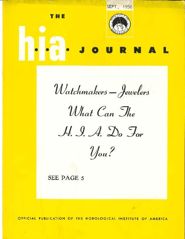 September 1956 HIA Journal