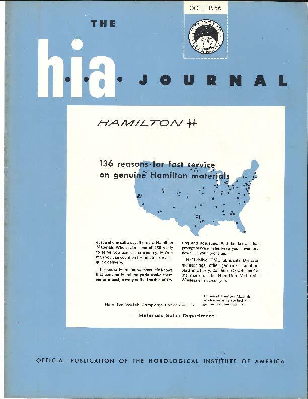 October 1956 HIA Journal