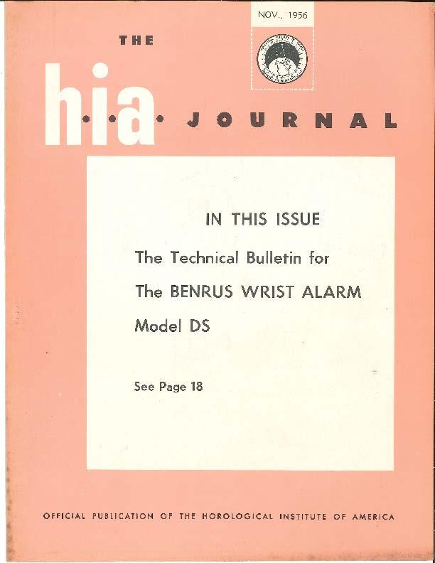 November 1956 HIA Journal