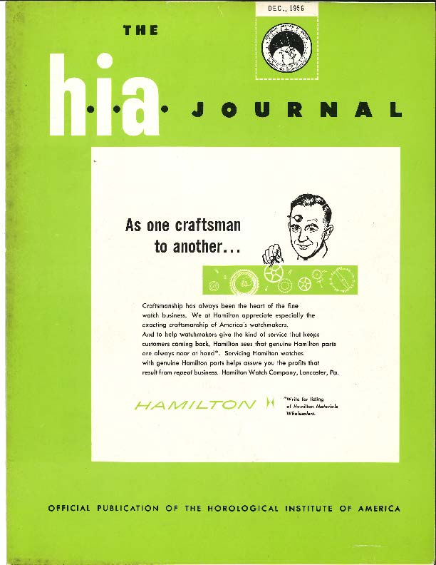 December 1956 HIA Journal