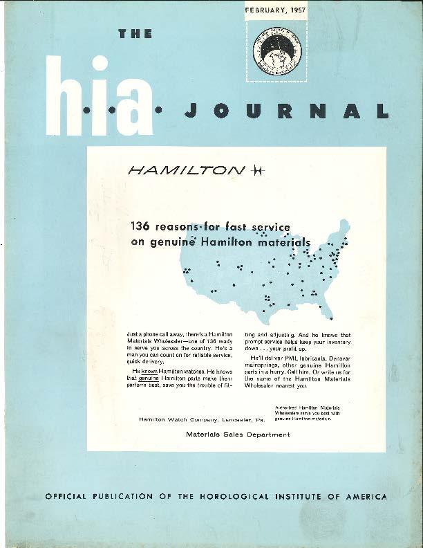 February 1957 HIA Journal