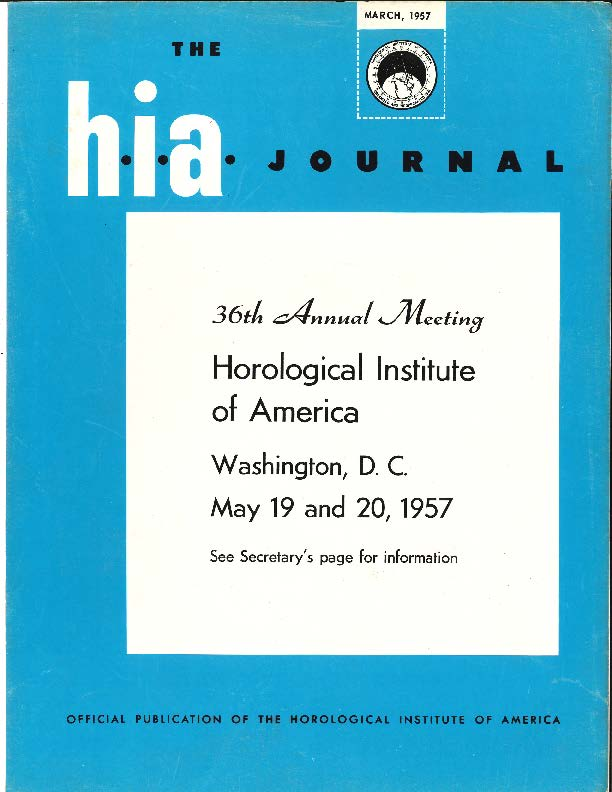 March 1957 HIA Journal