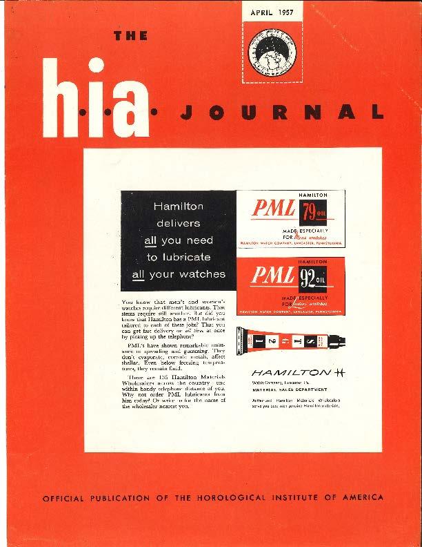 April 1957 HIA Journal