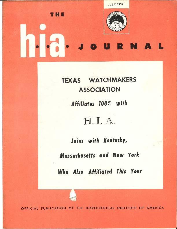 July 1957 HIA Journal