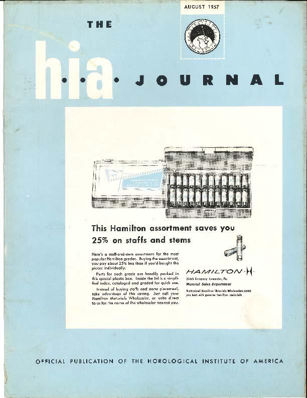 August 1957 HIA Journal