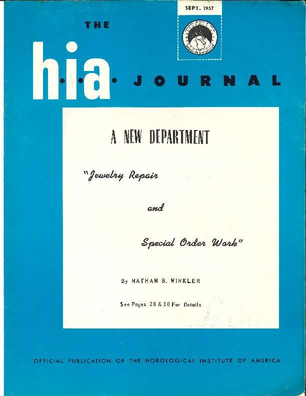 September 1957 HIA Journal