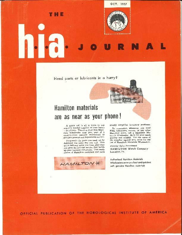 October 1957 HIA Journal