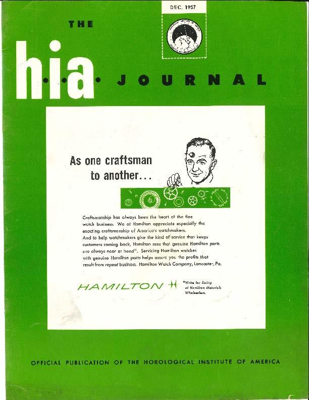 December 1957 HIA Journal