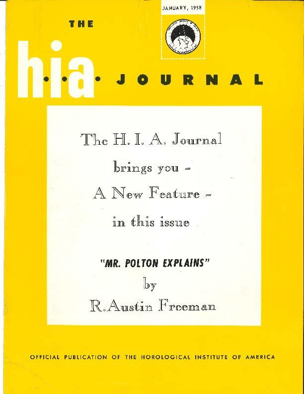 January 1958 HIA Journal