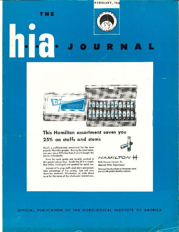 February 1958 HIA Journal