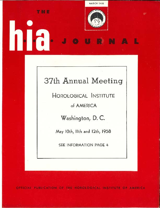 March 1958 HIA Journal